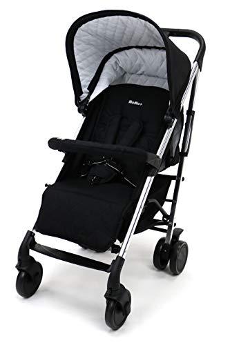 Asalvo - Silla de paseo Moma Plus, Color Negro