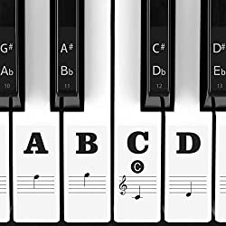 Eison Full Set Piano Keyboard Stickers