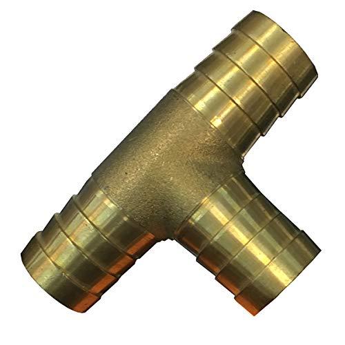 KANANA Y, T-Verteiler 12mm, 16mm, 19mm Gartenschlauch Schlauch Schlauchverbinder (VGS), Durchmesser:T Form 19mm