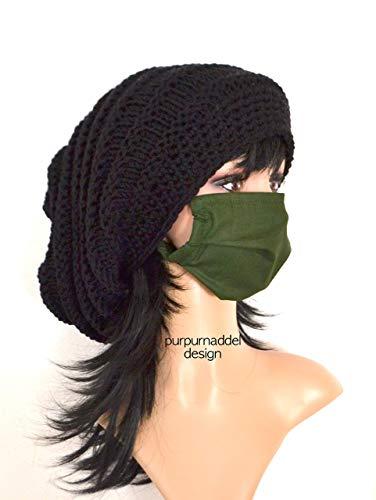 Mundmaske, Mundbedeckung, Bedeckung, Behelfsmaske, grün, Face Mask, Mouth Mask, Masque de Bouche, Cotton, Waschbar!