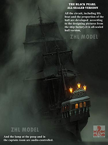 ZHL All Sealed Version of The Black Pearl Ship Wooden Model Ship Kits