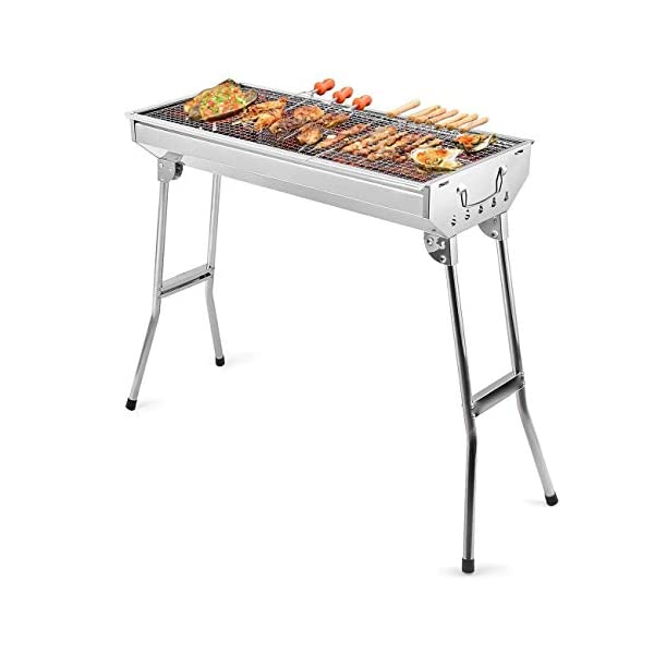 Uten Barbecue Grill Portable BBQ Charcoal Grill Smoker Grill for Outdoor Cooking Camping Hiking Picnics Backpacking 1