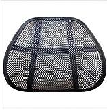 Kiter Cojín para asiento de coche, cojín universal de malla transpirable, protección de ventilación, masaje lumbar, accesorios para coche (color A: A)