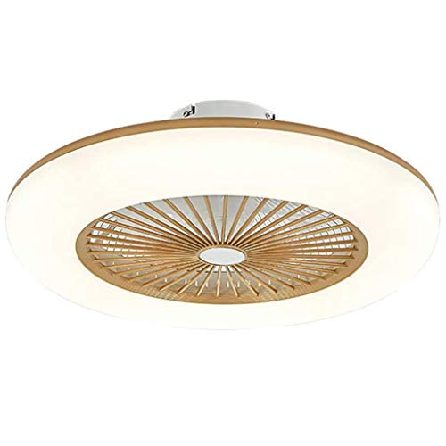 Deckenventilator Mit Beleuchtung LED Fan Deckenleuchte Einstellbare Windgeschwindigkeit Dimmbar Mit Fernbedienung Moderne Deckenlampe Für Schlafzimmer Wohnzimmer Esszimmer,Messing