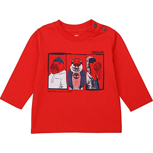Timberland Camiseta algodón ecológico Infantil Rojo Vivo 9MESES