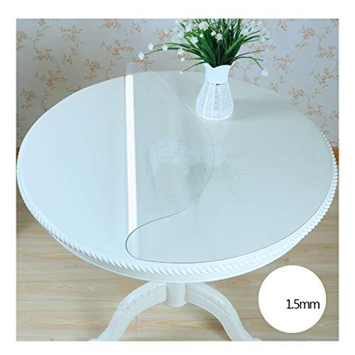 &Nappes Nappe ronde en PVC - Nappe imperméable transparente pour tablette de bureau ronde nappe de table (Couleur : A, taille : Round-140cm)