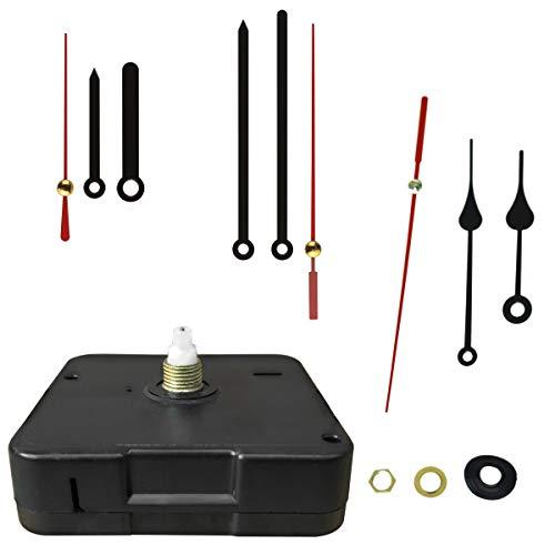 BULLONGÈ Quarz-Uhrwerk-Set 3x3 Premium mit 9 Metall-Zeigern - zum selber Bauen Einer Uhr oder als Ersatz