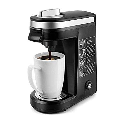 XTZJ Single Serve Coffee Maker Brewer for Single Cup Capsule with 12 Ounce Reservoir,Black