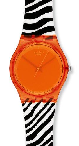 Swatch Orange Zeb Go107 - Reloj de Mujer de Cuarzo, Correa de Goma Color