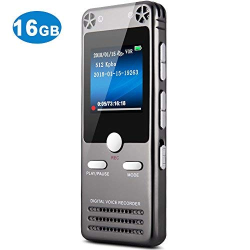 16GB Digital Voice Recorder for Lectures - TOOBOM Sound Audio Recorder Dictaphone Tape Recorder ...