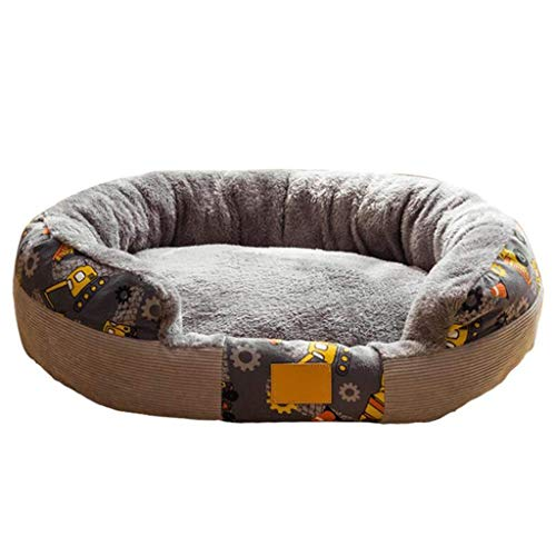 YUNLILI Cama para Mascotas de Peluche, cojín de sofá para Perros, cojín Suave, Adecuado para Perros Grandes y medianos, Gatos, Mascotas pequeñas (Size : M)