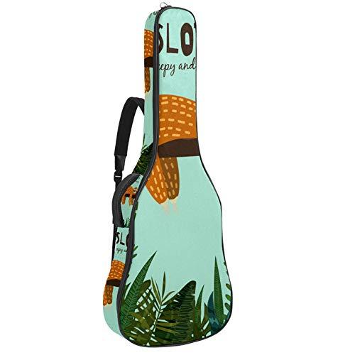 Bennigiry Lindo perezoso colgante en el árbol de la guitarra de la bolsa de concierto de guitarra acústica bolsa de transporte para guitarrista