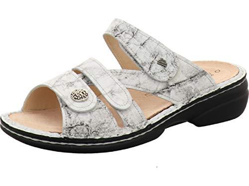Finn Comfort Ventura Soft Damen Pantoletten weiß White/Malawi