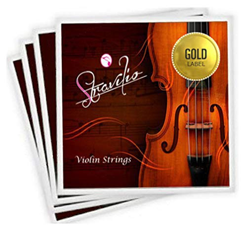 Full Set of Violin Strings Size 4/4 & 3/4 - G D A & E Concert Grade (Gold Label