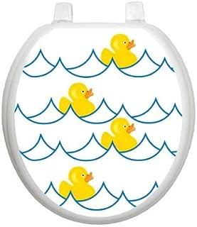 Rubber Ducky White TT-4000-R Round Whimsical Cover Bathroom