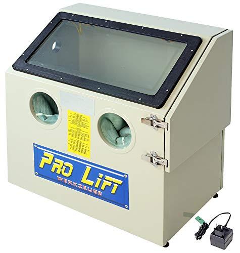 Pro-Lift-Werkzeuge Sandstrahlgerät 110 l Sandstrahlkabine Sandstrahler 110 Liter Zubehör sand blaster Industrie Tischmodell