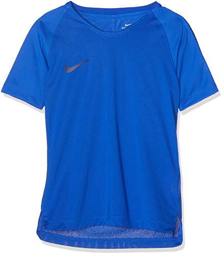 Nike Jungen T-Shirt Breathe Squad, Hyper Royal/Blackened Blue, XL, 916117-405