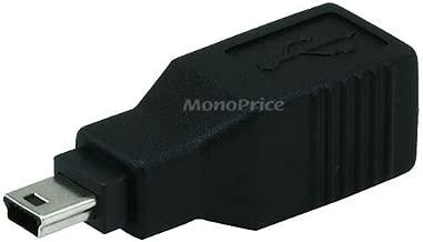 Monoprice USB 2.0 B Female to Mini 5 pin (B5) Male Adapter (104816) (2 Pack)