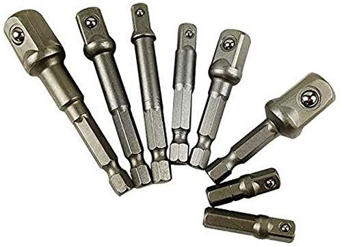 ZHFF Impact Socket Adapter,Hex Adapter Extension Set Socket Wrench Adapter Set, Nuts Driver Power Drills Impact Socket Bit,Tool Set -