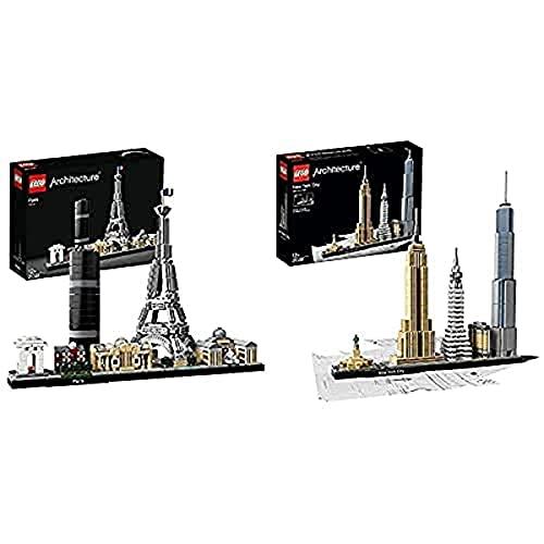 LEGO 21028 Architecture - New York City, Skyline-Kollektion, Bausteine & 21044 Architecture Paris Skyline-Kollektion