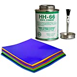 Moose Supply HH-66 Vinyl Repair Kit | Inflatable Bounce House Repair Kit | Includes Adhesive and 9 Pieces of 8 Inch x 8 Inch Vinyl | for Flexible, Waterproof Repairs of Tears, Punctures, and Holes