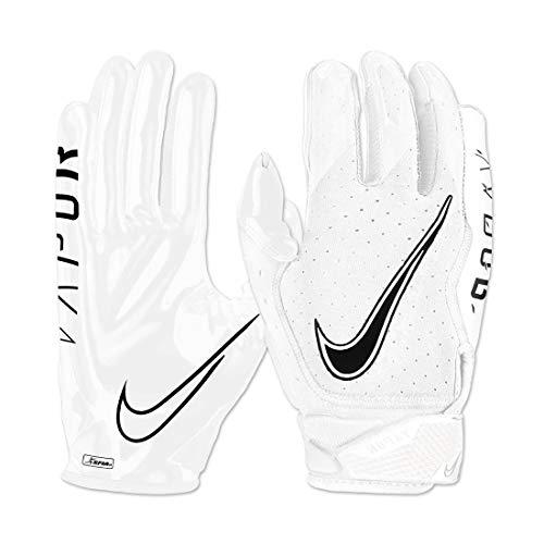 Nike Vapor Jet 6.0 - Guantes para receptor de fútbol (talla XL, color blanco/negro)