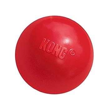 KONG - Ball with Hole - Jouet à rapporter en Caoutchouc résistant - pour Chien Petite Taille