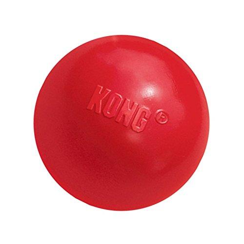 KONG - Ball with Hole - Juguete para Buscar de Caucho Resistente - para Perros Pequeños ✅