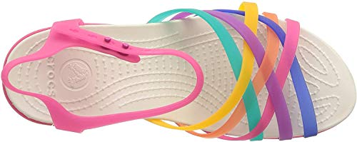 Crocs Women's Huarache Wedge, Multi / Candy Pink, 7