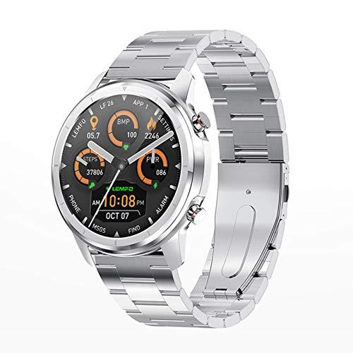 Bluetooth 5.0 Smart Watch 1.3 Pulgadas 360 * 360 HD AMOLED Pantalla Abajo Abajo A Prueba De Agua Ratón Cardíaco para Hombres Y Presión Arterial,E