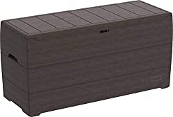 long-lasting backyard storage box - with 71 cubic feet and made of durable UV resistant PP plastic resin, it will Solve all your storage needs. This is your best choice in a deck box for storing garden tools, cushions, pillow, gear, toys, pool suppli...