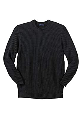 KingSize Men's Big & Tall Knit Crewneck Sweater - Tall - L, Black from KingSize