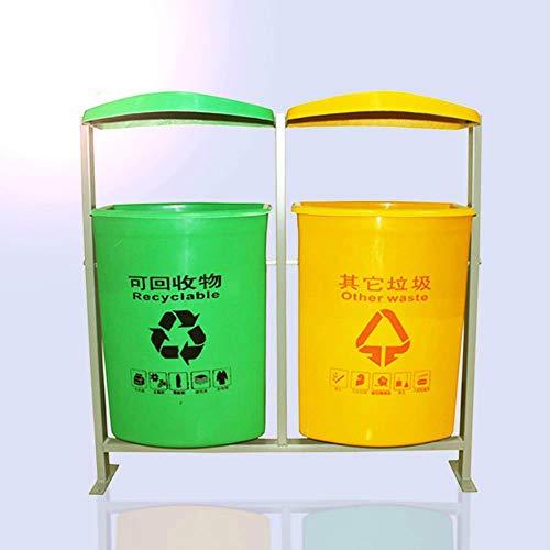 Vuilnisbak Plastic FRP Classificatie Vuilnisbak Gemeentelijke Sanitatie Ijzer Frame Emmer Dubbele Vat Vuilnisbak