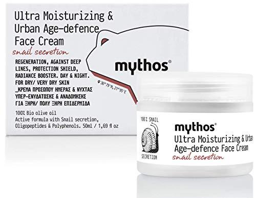 MYTHOS ULTRA-MOISTURIZING & URBAN AGE-DEFENCE FACE CREAM WITH SNAIL SECRETION DAY & NIGHT 50 ML.