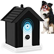 Geohee Anti Barking Device,2020 New Bark Box Outdoor Device with Adjustable Ultrasonic Level Control Safe for Small Medium Large Dogs, Sonic Bark Deterrents, Bark Control Device