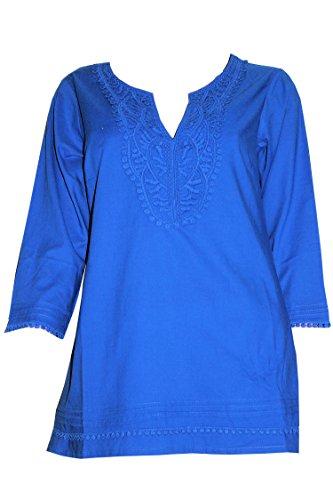 Tamari Beachwear Damen Bluse, Azurblau, Größe 40/42