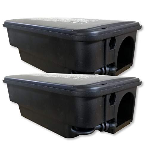 2 scatole di esca robusti per ratti per l\'esterno