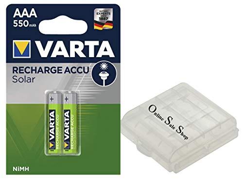2 x AAA batterijen Micro snel opladen zonder geheugeneffect voor draadloze telefoons Siemens Gigaset A400 A400A A415 A415A AS28 AS28H S79H A58H + OSS accubox