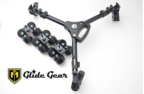 Glide Gear SYL 960 Floor Tripod Track Dolly Hybrid with Caster and Track Wheels