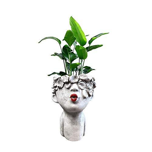 Small Kissing Women Ceramic Succulent Plant Pots, Ceramic Pots for Plants ,Ceramic Flowing Glaze Base Serial Set Succulent Plant Pot Cactus Plant Pot Flower Pot Container Planter Bonsai Pots