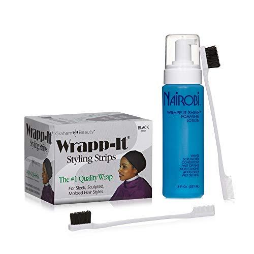 Nairobi Wrapp It Strips Graham Beauty Bundle with Edge Brushes
