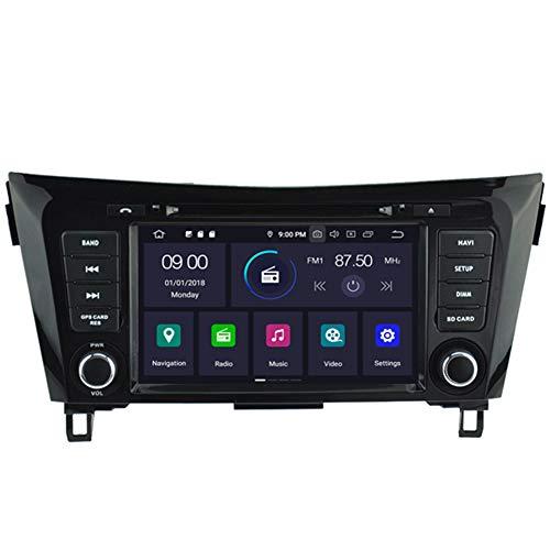 Autosion Android 10 Lecteur DVD de voiture GPS stéréo Radio de navigation Wifi pour Nissan X-Trail Rogue Qashqai 2014 2015 2016 2017 2018 Écran capacitif Bluetooth Steeirng Wheel Control 4+64 Go