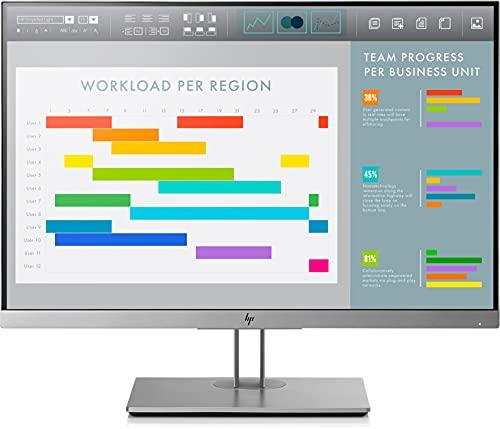 HP EliteDisplay E243i - Monitor de 24 pulgadas ajustable en altura (FHD antireflejo, 1920 x 1200 a 60 Hz, IPS LED, 300cd/m, 5ms, 16:10, 1 x VGA, 1 x HDMI 1.4, 1 x DisplayPort 1.2, 2 x USB 3.0)