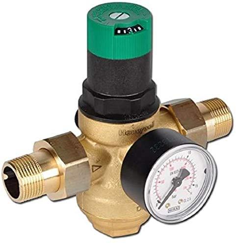 """Honeywell d06f-am - Valvola riduttore pressione con manometro 1/2"""""""