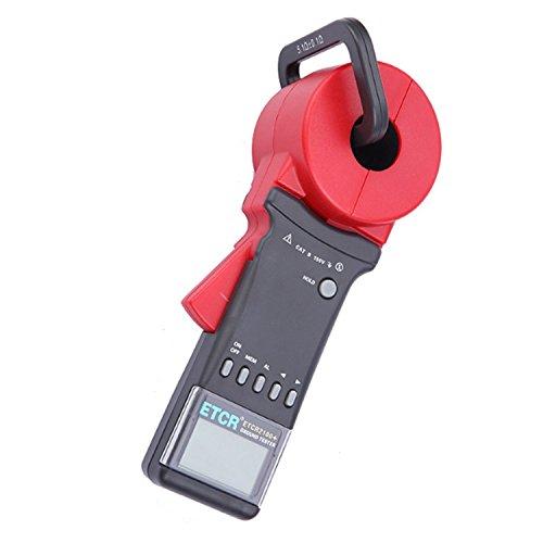 CLJ-LJ Medidor de abrazadera digital portátil científico, medidor de resistencia al suelo, con pantalla LCD función de almacenamiento de datos, rango de resistencia: 0,01 ~ 1200Ω ETCR2100+