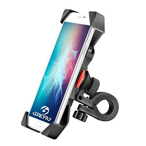 Grefay Fahrrad Handyhalterung Universal Motorrad Handy Halterung für 3,5-6,5 Zoll Smartphone mit 360° Drehbar