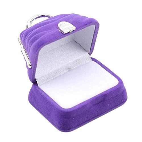 Handtaschenform Ring Geschenkbox Schmuck Aufbewahrungskoffer Samt Schmuck Zubehör Für Frauen Geschenke Aufbewahrung