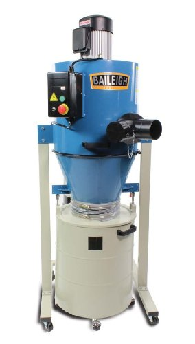 Baileigh DC-1450C Cyclone Style Dust Collector, Single Phase, 1450 CFM, 28 gal Drum, 220V, 2 hp