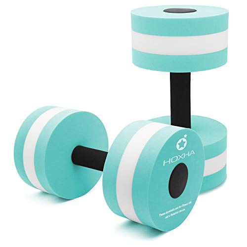 Purchase HOXHA Water Dumbells, Aquatic Exercise Dumbell Set of 2 Water Aerobic Exercise Foam Dumbbel...