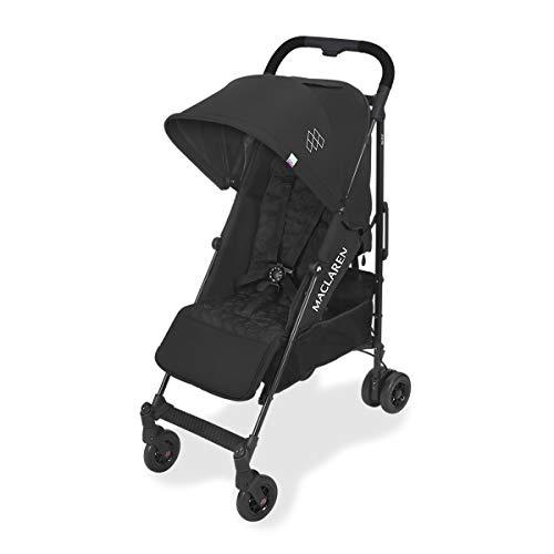 Maclaren Quest arc Silla de paseo - ligero, manillar unido, para recien nacidos hasta los 25kg, Asiento multiposicion, suspension en las 4 ruedas, Negro